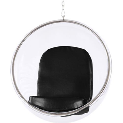 fauteuil suspendu insipir eero aarnio assise tissu couleur noir. Black Bedroom Furniture Sets. Home Design Ideas