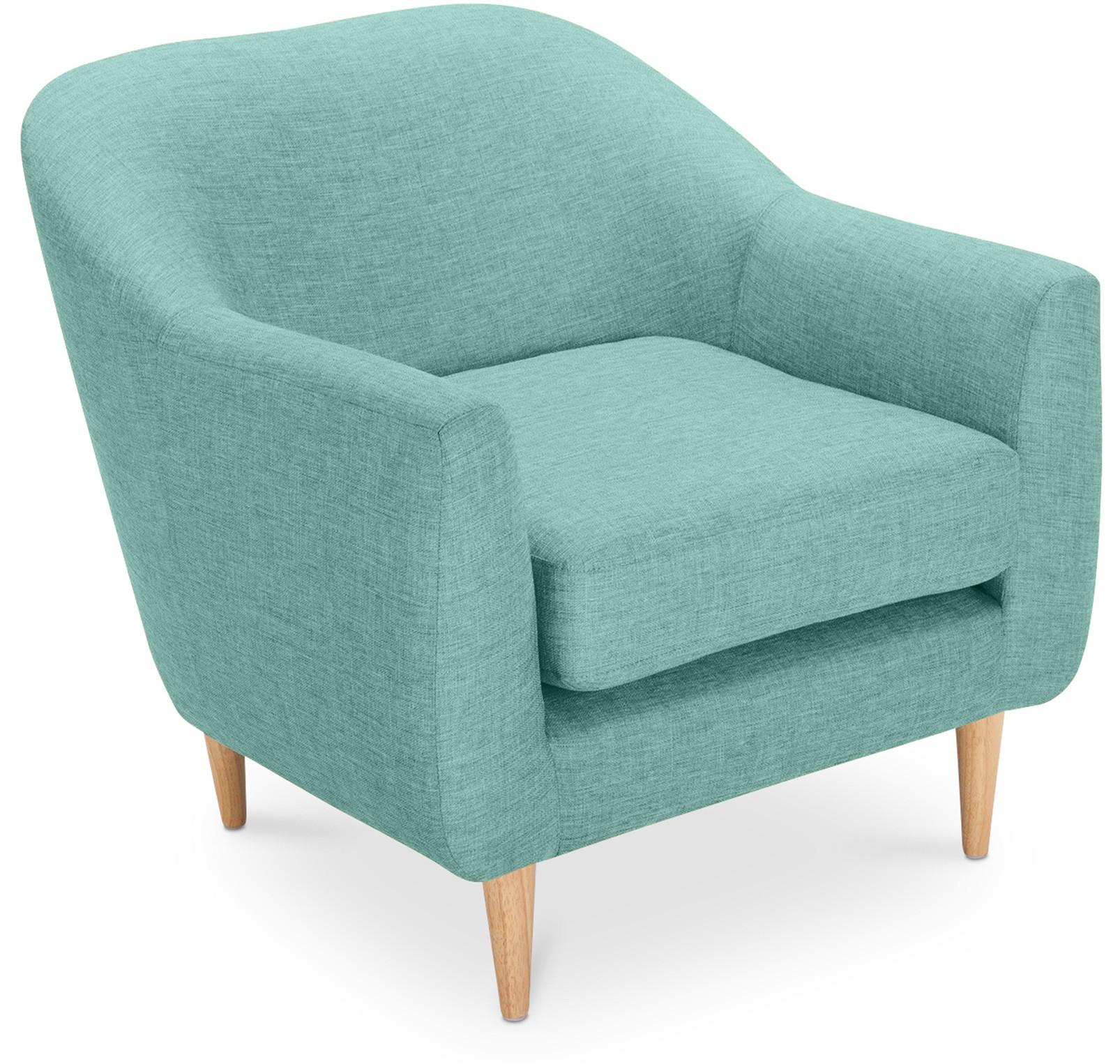 fauteuil tissu lin bleu ronda. Black Bedroom Furniture Sets. Home Design Ideas