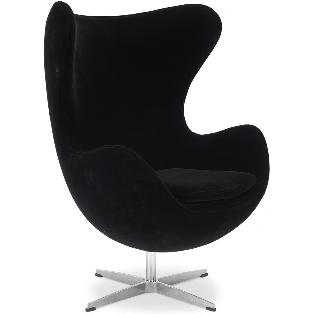 fauteuil tissu noir ego. Black Bedroom Furniture Sets. Home Design Ideas