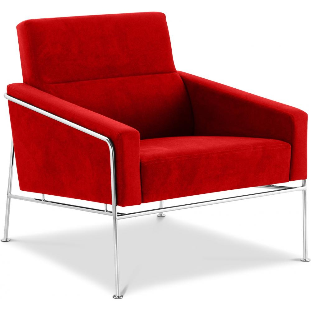 Fauteuil moderne tissu rouge hidy lestendancesfr for Fauteuil salon rouge
