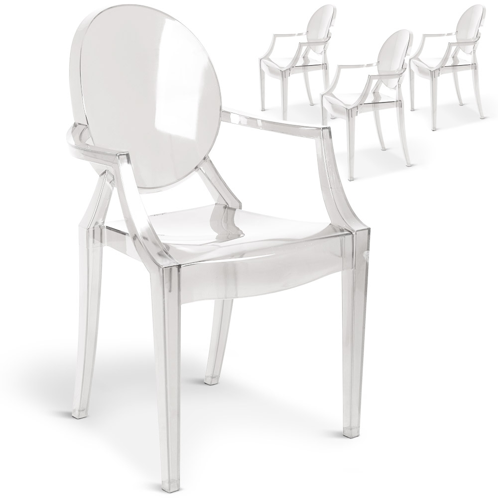 Fauteuil transparent Stany