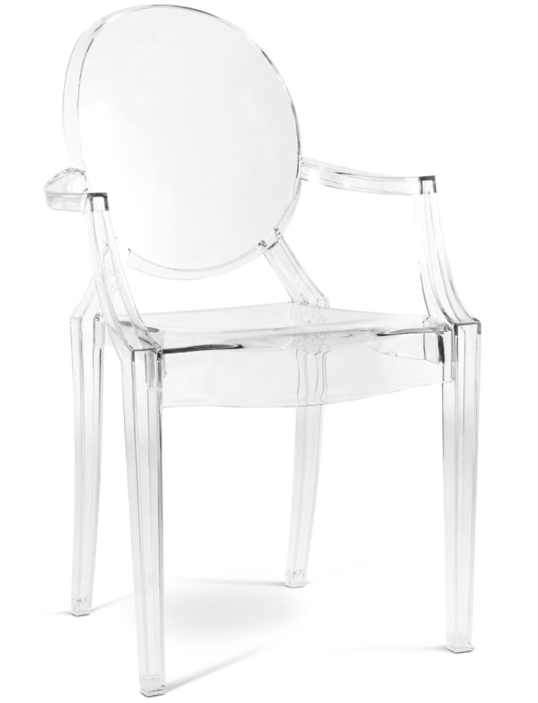 Fauteuil Polycarbonate Transparent Inspiré Louis Ghost