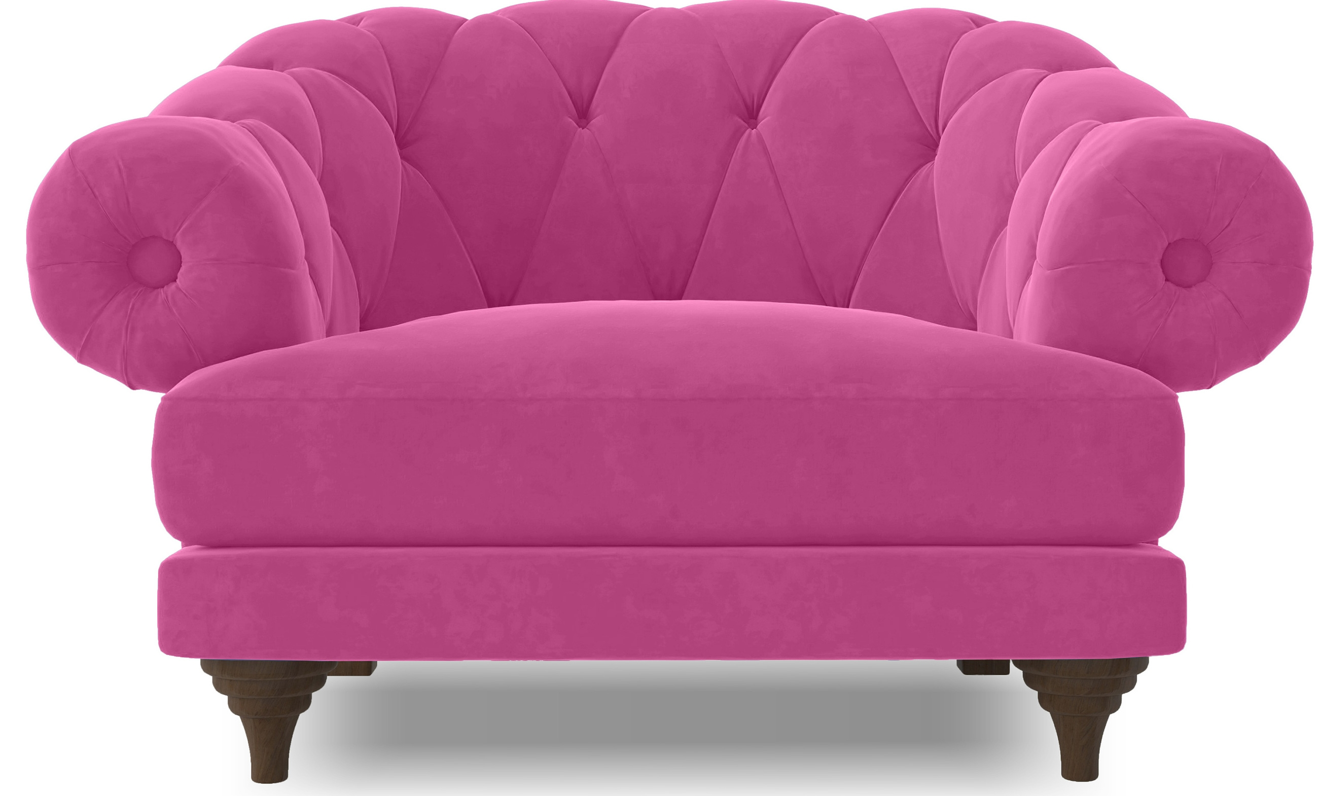 fauteuil ultra confortable velours rose chesterfield. Black Bedroom Furniture Sets. Home Design Ideas