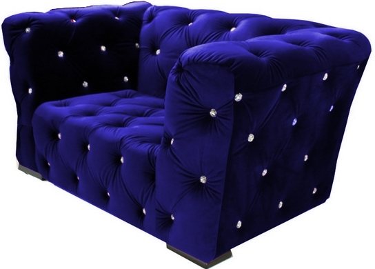 fauteuil velours bleu royal chesterfield. Black Bedroom Furniture Sets. Home Design Ideas