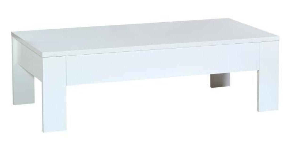 table basse 1 tiroir laqu blanc brillant led spacy. Black Bedroom Furniture Sets. Home Design Ideas