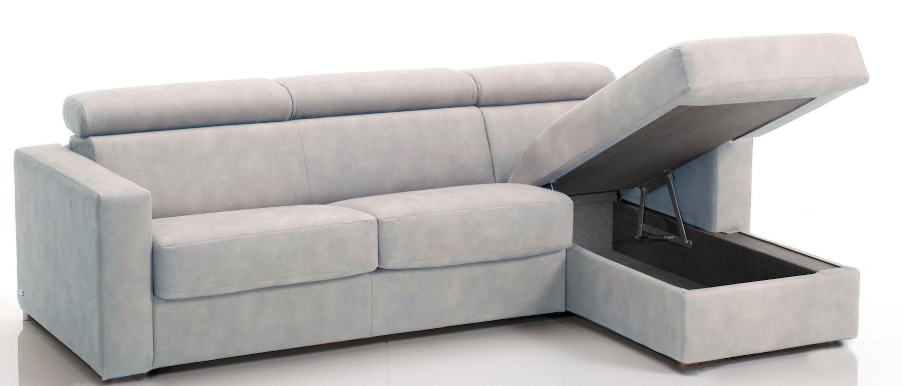 canap d 39 angle convertible avec t ti res rev tement tissu gris clair lova mod le 3 places maxi. Black Bedroom Furniture Sets. Home Design Ideas
