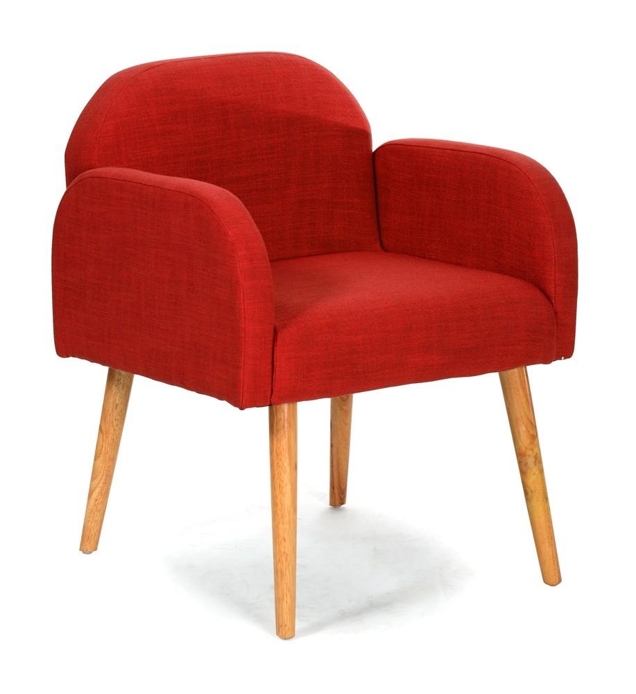 fauteuil naturel rouge helvi. Black Bedroom Furniture Sets. Home Design Ideas
