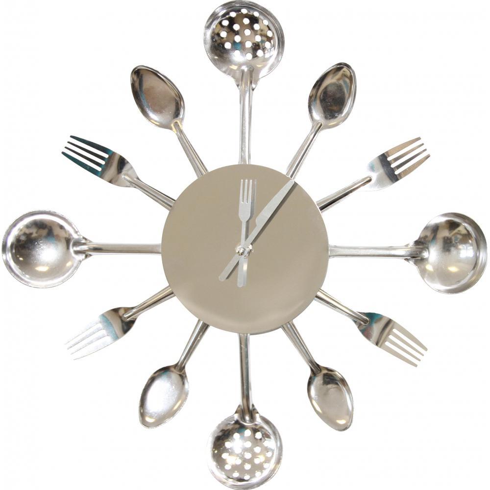Horloge ustensiles de cuisine for Deco cuisine horloge