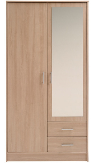 armoire bruges 2 portes 1 miroir quadro. Black Bedroom Furniture Sets. Home Design Ideas