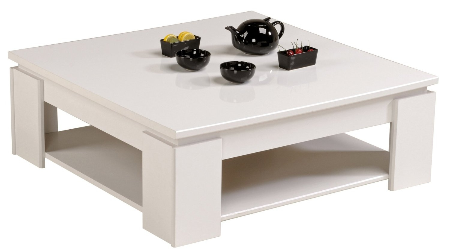 Table basse blanche carr e tifany - Table basse blanche but ...