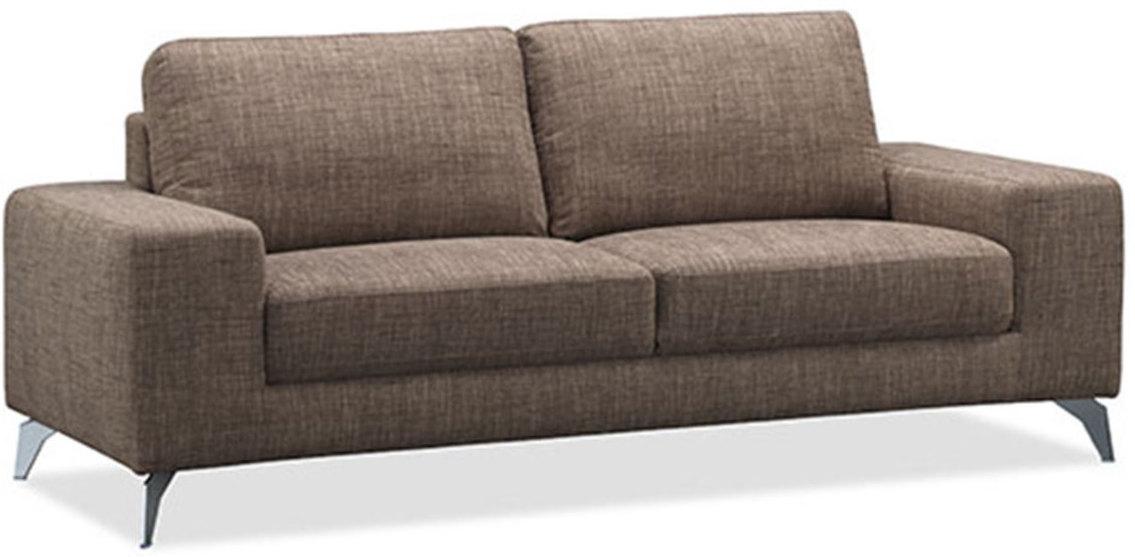 canap 2 places tissu marron jazy. Black Bedroom Furniture Sets. Home Design Ideas