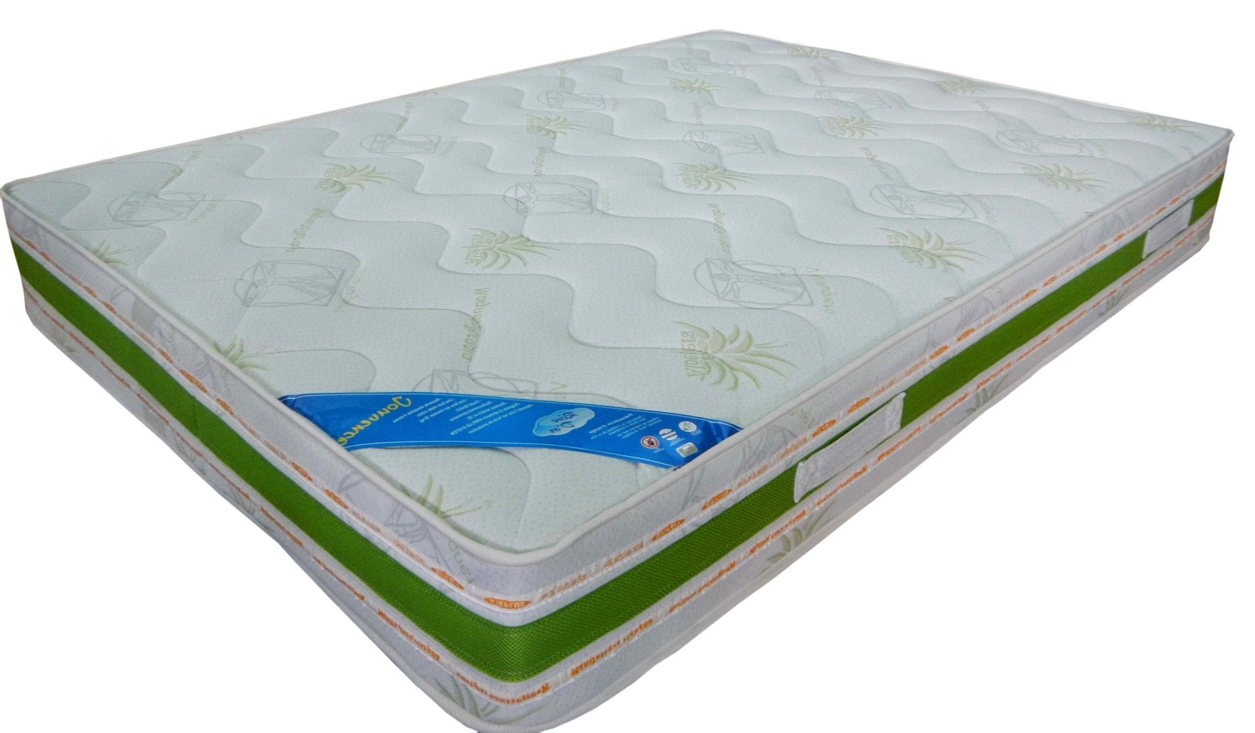 matelas 140x190 cm blanc vert jouvence. Black Bedroom Furniture Sets. Home Design Ideas