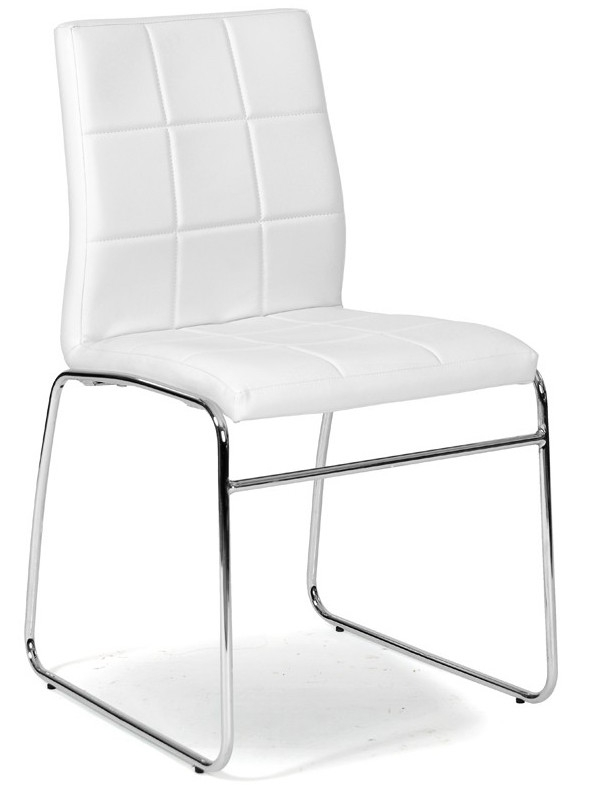 Chaise capitonn e blanche tyko for Chaise blanche sejour