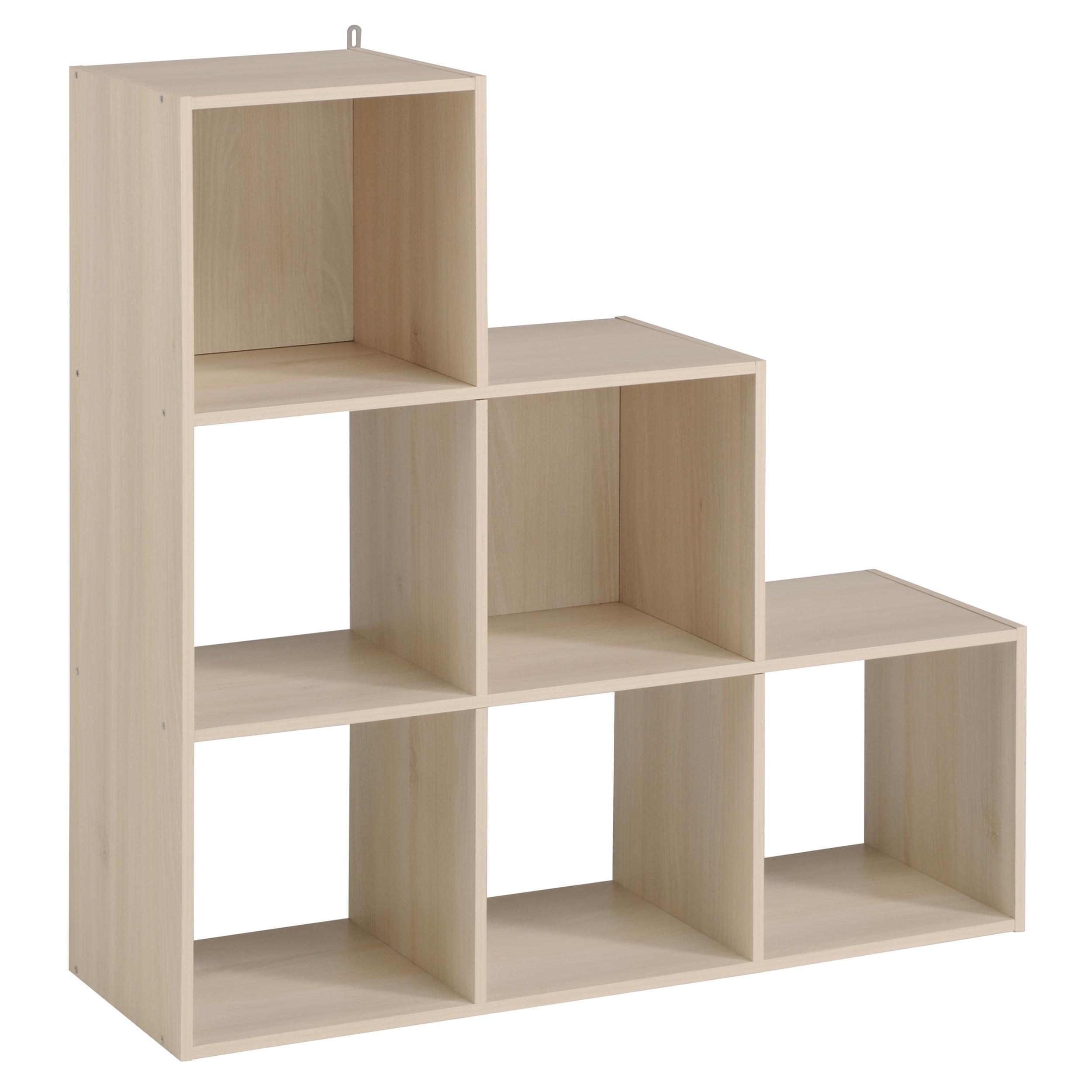 escalier 6 cases naturel kaza. Black Bedroom Furniture Sets. Home Design Ideas