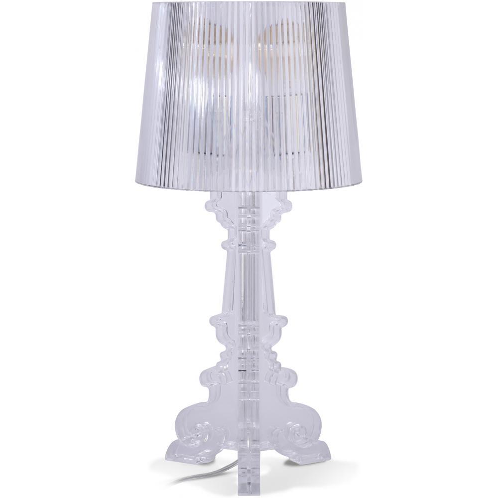 lampe de table transparente inspir e ferrucio laviani h 51. Black Bedroom Furniture Sets. Home Design Ideas