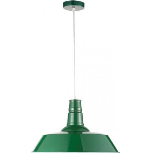 lampe suspension industrielle verte roy d 46 cm. Black Bedroom Furniture Sets. Home Design Ideas
