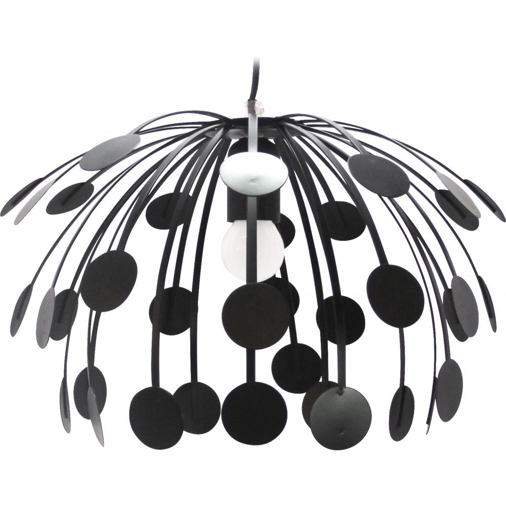 lampe pendentif metal noir feuille. Black Bedroom Furniture Sets. Home Design Ideas
