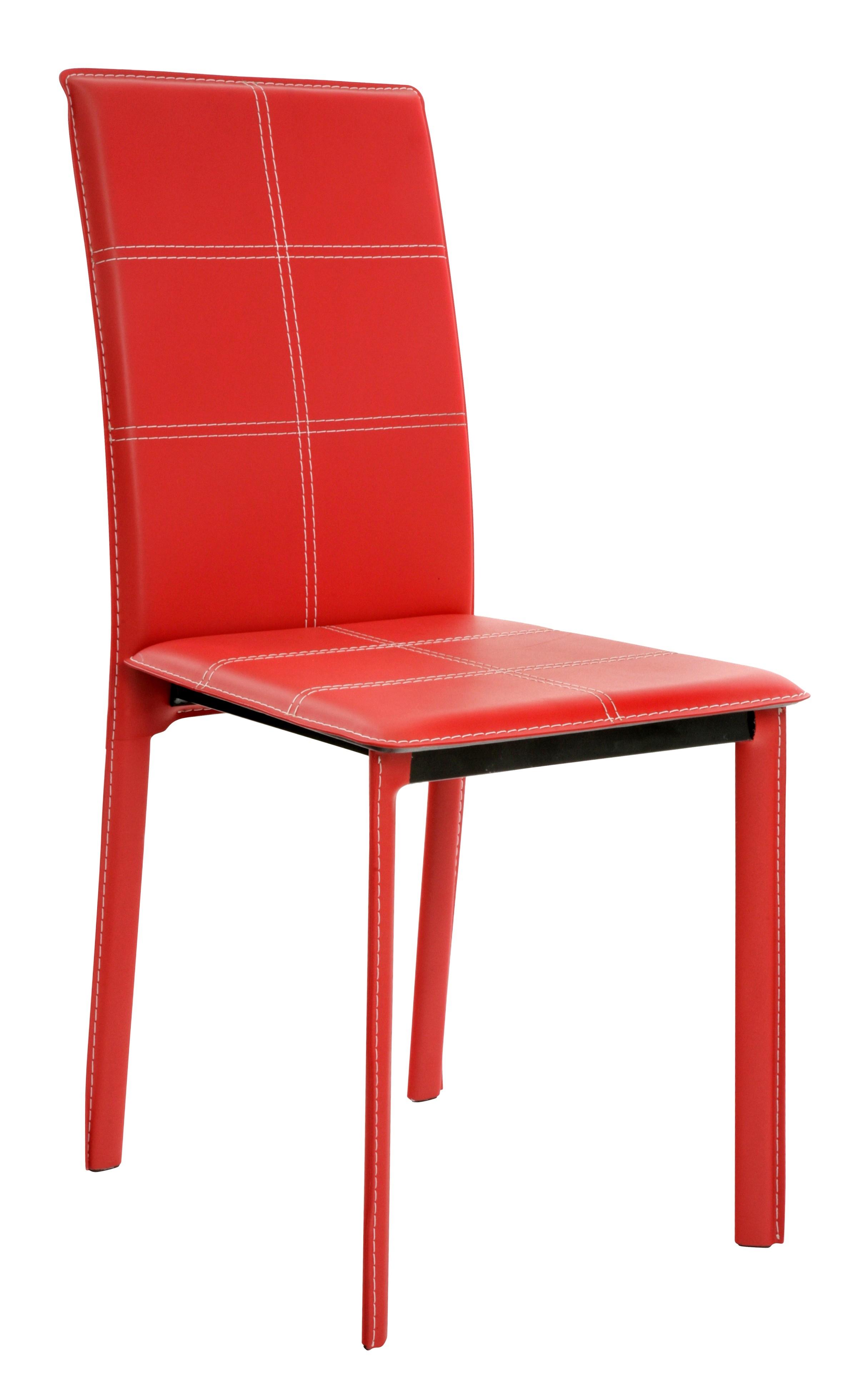 chaise pvc rouge games. Black Bedroom Furniture Sets. Home Design Ideas