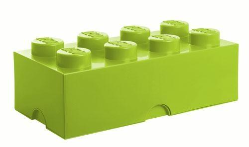 boite de rangement 8 plots vert anis lego. Black Bedroom Furniture Sets. Home Design Ideas