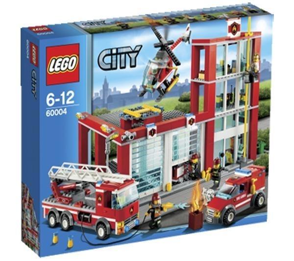 Lego city 60004 la caserne des pompiers - Caserne de police playmobil ...
