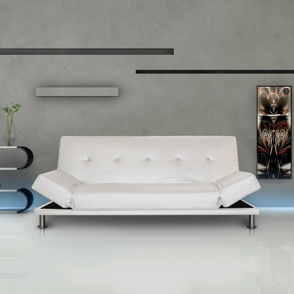 canap convertible june couleur blanc. Black Bedroom Furniture Sets. Home Design Ideas