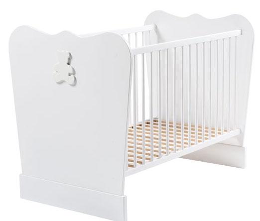 lit barreaux blanc acapulco 60. Black Bedroom Furniture Sets. Home Design Ideas