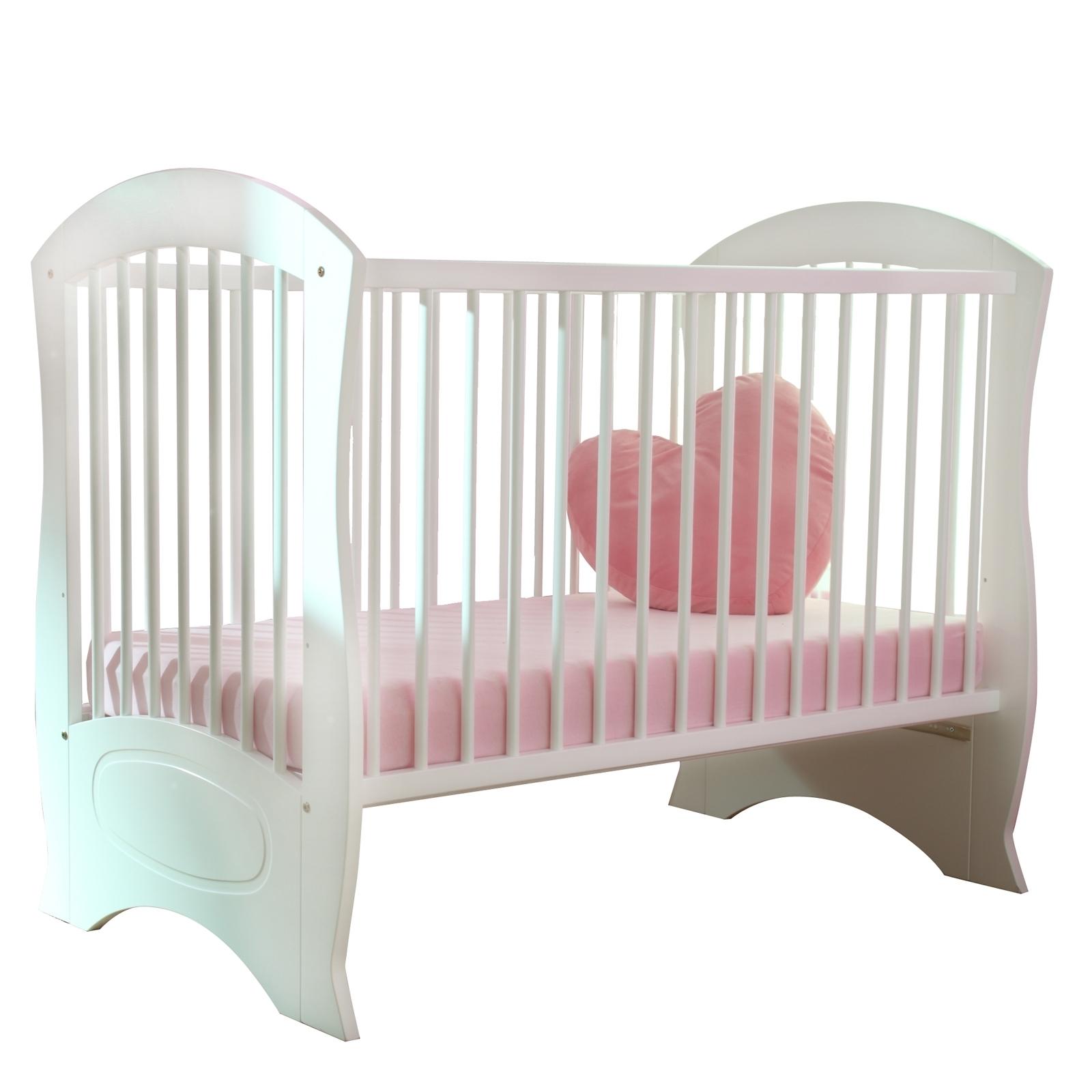 lit barreaux blanc perle 60. Black Bedroom Furniture Sets. Home Design Ideas