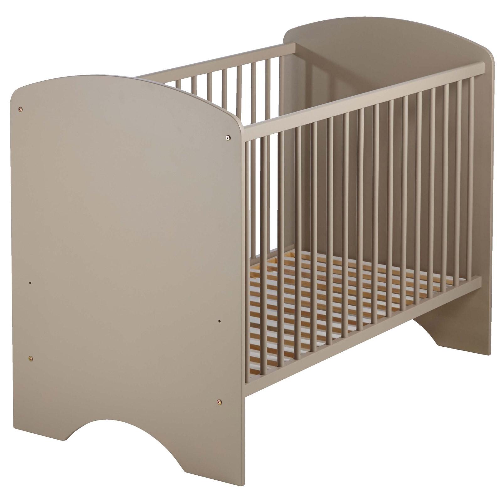lit barreaux taupe sweety 60. Black Bedroom Furniture Sets. Home Design Ideas