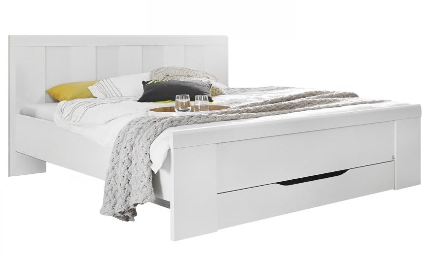 les tendances lit moderne blanc avec tiroir agath 140 x 200 cm. Black Bedroom Furniture Sets. Home Design Ideas
