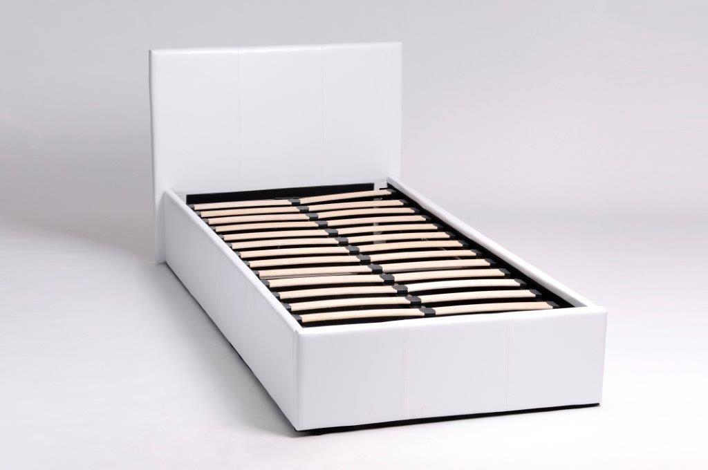 lit avec coffre simili skon. Black Bedroom Furniture Sets. Home Design Ideas