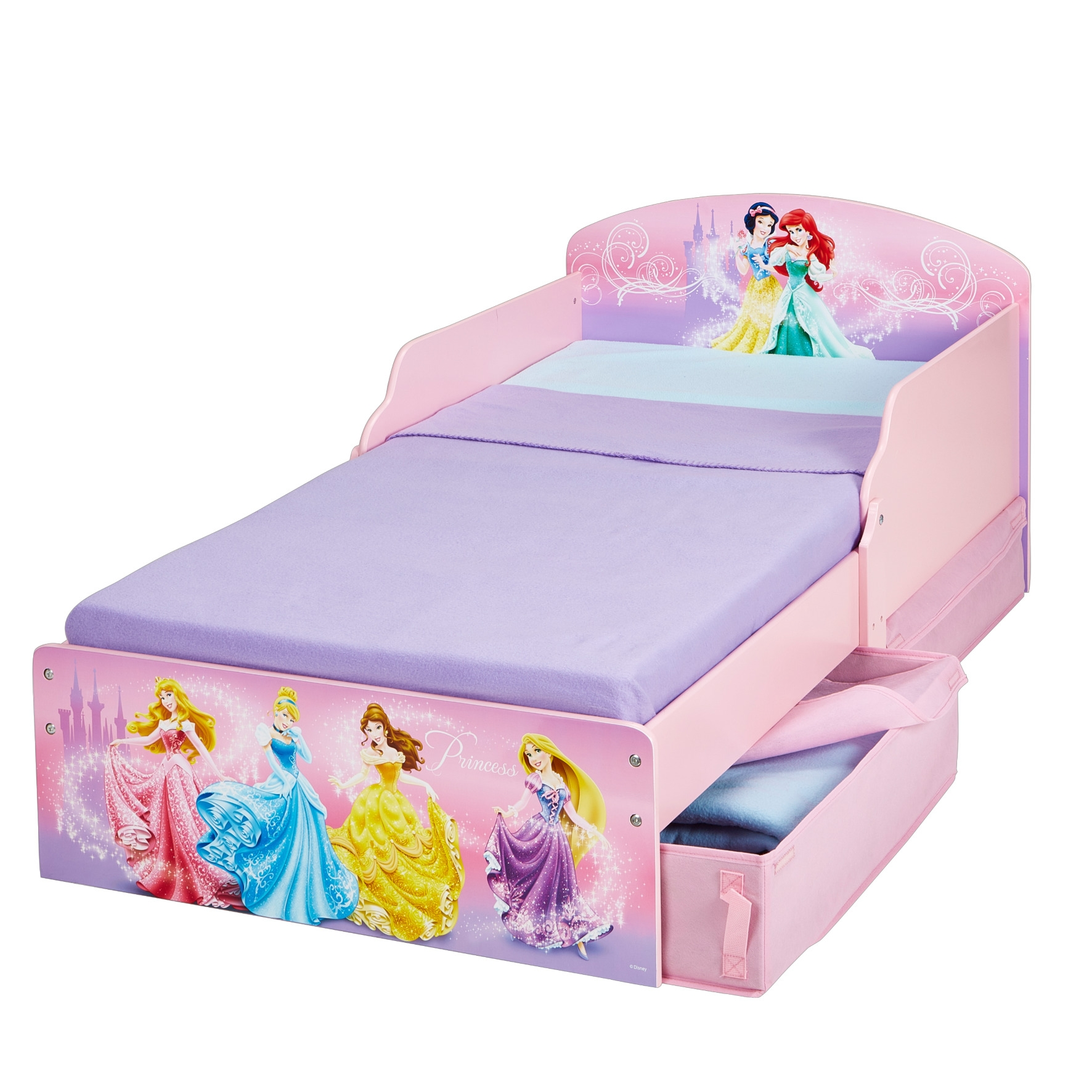 lit avec rangement disney princesses. Black Bedroom Furniture Sets. Home Design Ideas