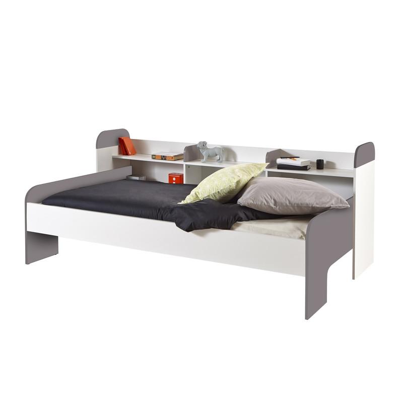 lit banquette blanc et basalte sacha. Black Bedroom Furniture Sets. Home Design Ideas