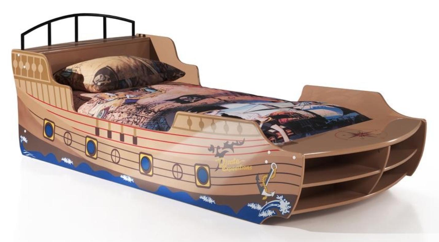 lit bateau pirate 90. Black Bedroom Furniture Sets. Home Design Ideas