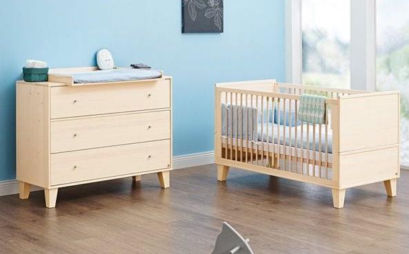 lit b b volutif et commode langer charles. Black Bedroom Furniture Sets. Home Design Ideas
