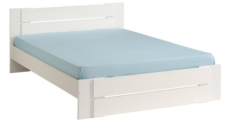 lit bois blanc vido couchage 140 x 190 cm. Black Bedroom Furniture Sets. Home Design Ideas
