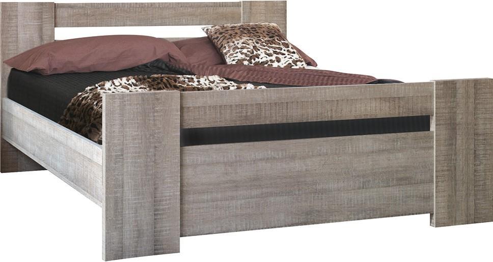 lit bois ch ne gris little 140. Black Bedroom Furniture Sets. Home Design Ideas