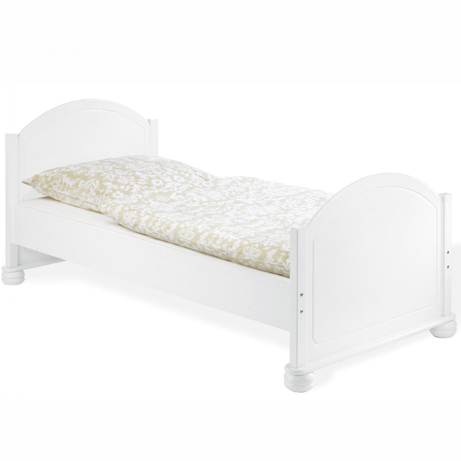 lit bois massif lasur blanc clara. Black Bedroom Furniture Sets. Home Design Ideas