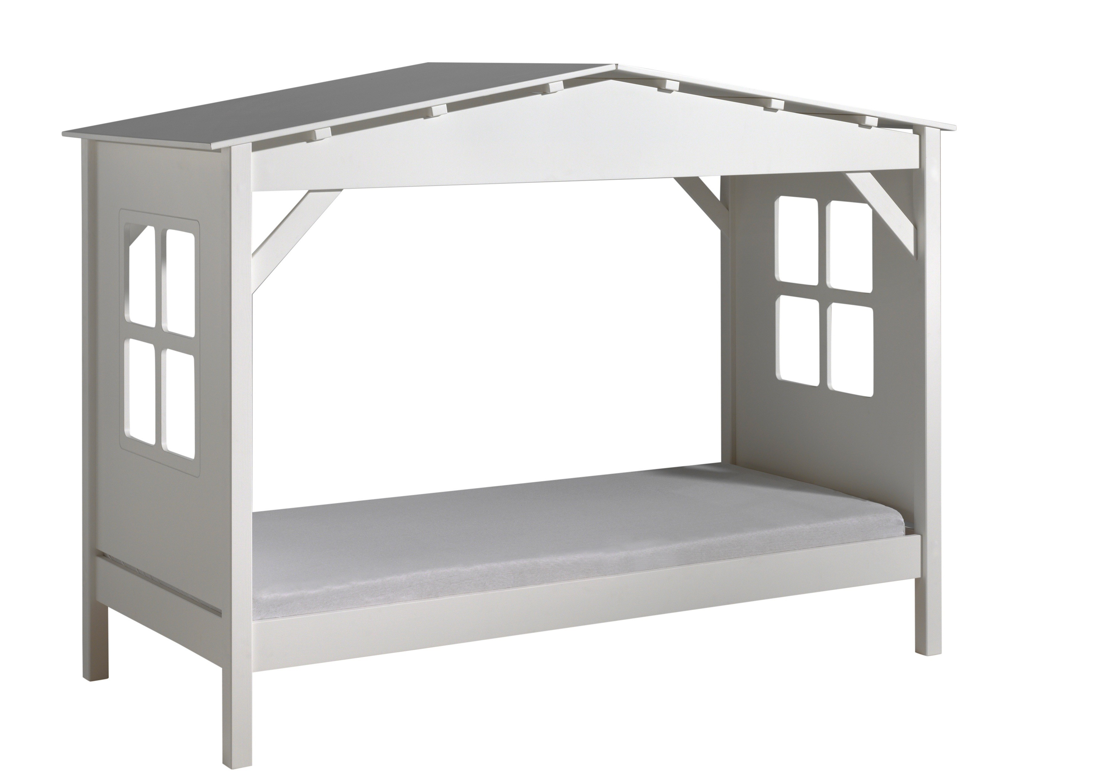 lit cabane pin massif blanc pinie 90 mod le sans tiroir. Black Bedroom Furniture Sets. Home Design Ideas