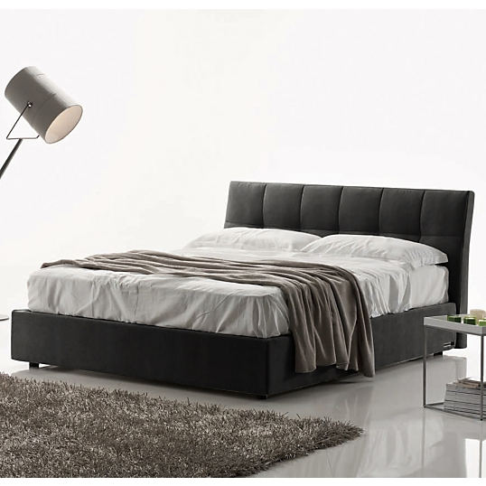 lit coffre capitonn gris anthracite clever. Black Bedroom Furniture Sets. Home Design Ideas