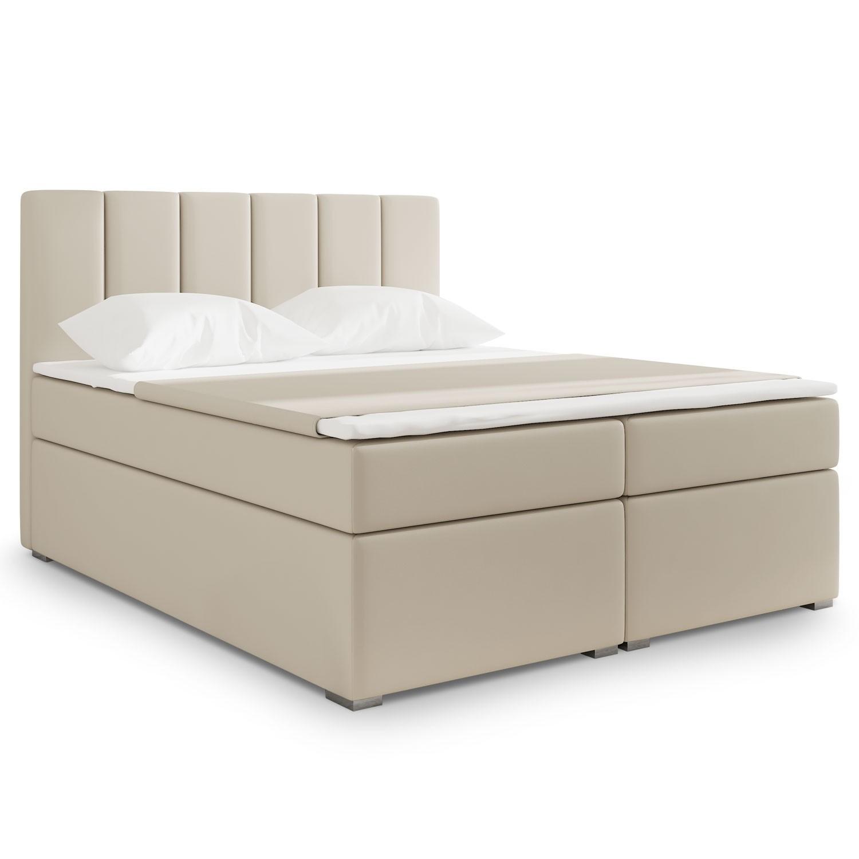 lit coffre simili beige milan 180. Black Bedroom Furniture Sets. Home Design Ideas
