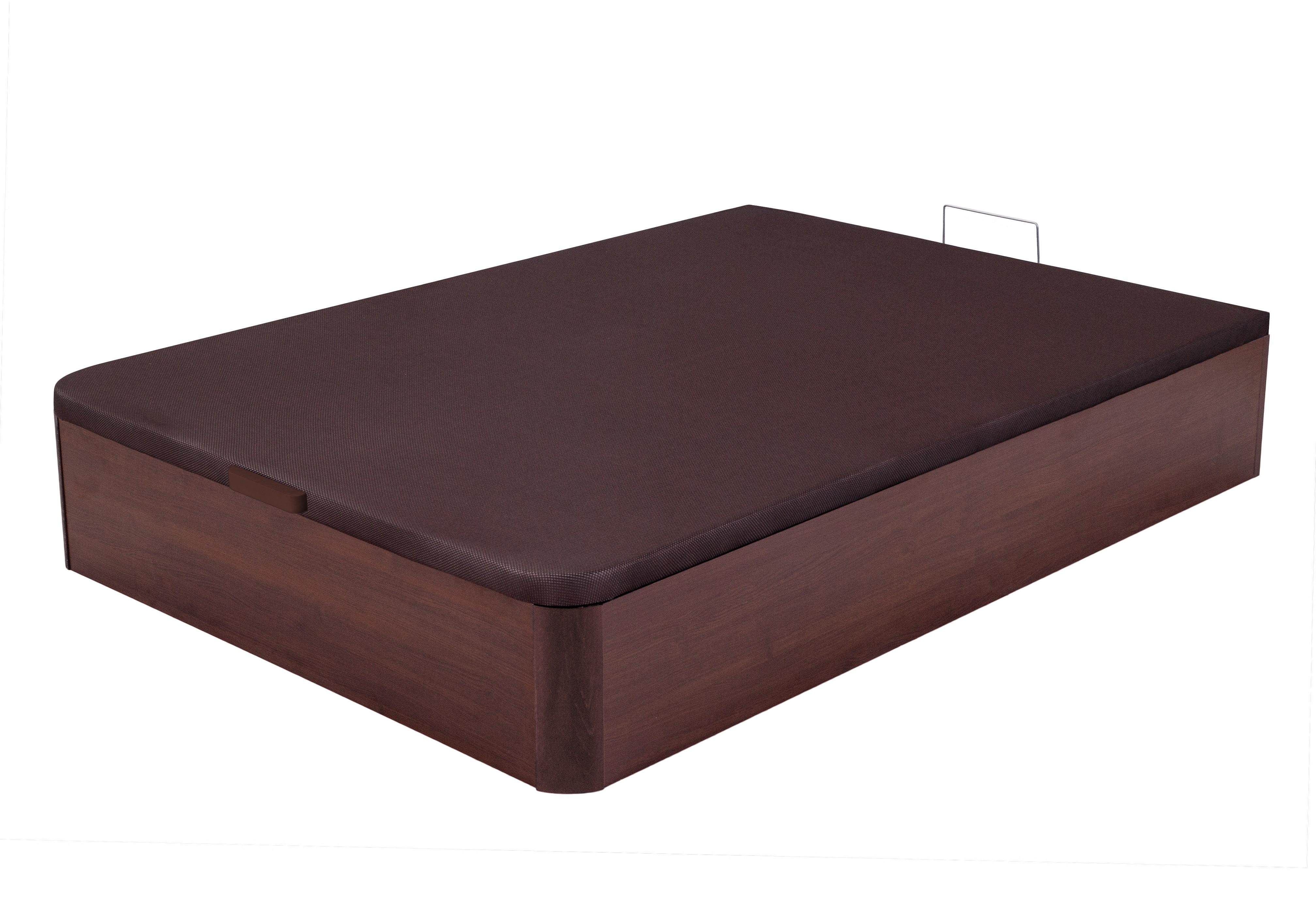 sommier lit coffre bois melamin wengu kosta 160. Black Bedroom Furniture Sets. Home Design Ideas