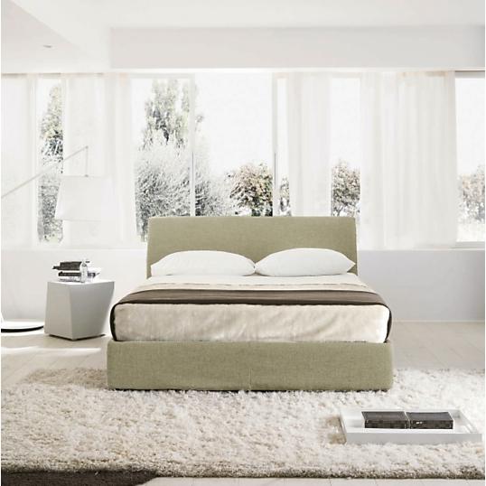lit coffre tissu ecru key. Black Bedroom Furniture Sets. Home Design Ideas
