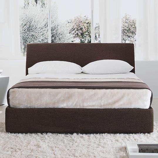 lit coffre tissu marron key. Black Bedroom Furniture Sets. Home Design Ideas