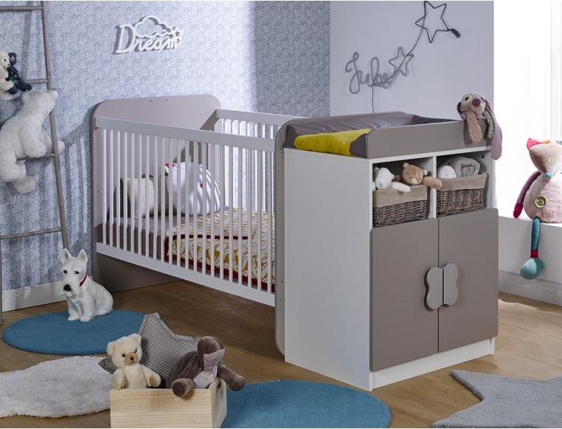 lit combin transformable b b blanc et lin bonny 70. Black Bedroom Furniture Sets. Home Design Ideas