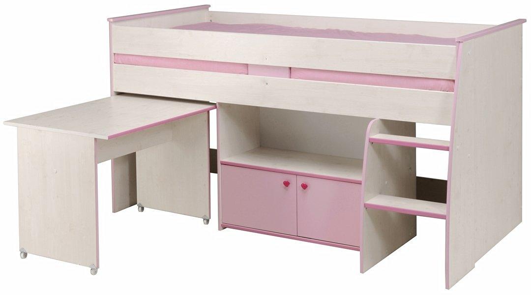 lit combin blanc et rose zoe. Black Bedroom Furniture Sets. Home Design Ideas
