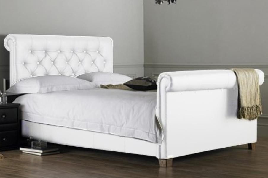 lit capitonn blanc kenta 160