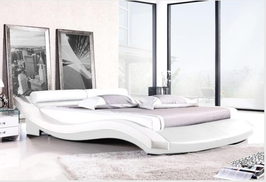 lit design blanc pila 140. Black Bedroom Furniture Sets. Home Design Ideas
