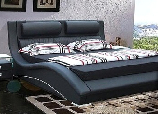 lit design noir kilan 160. Black Bedroom Furniture Sets. Home Design Ideas