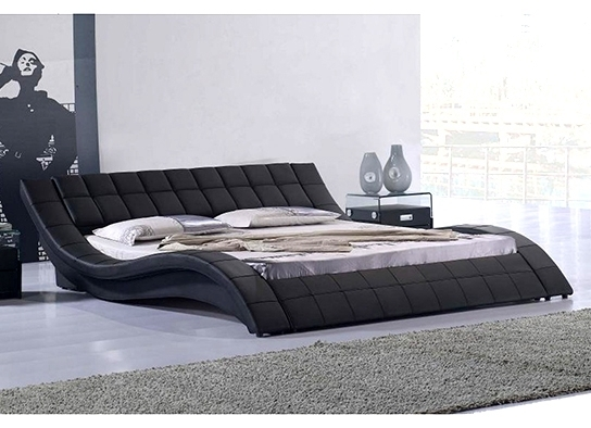 lit haut de gamme noir kanjy 140. Black Bedroom Furniture Sets. Home Design Ideas