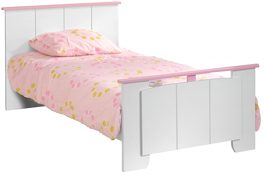 lit enfant blanc et rose eglantine. Black Bedroom Furniture Sets. Home Design Ideas